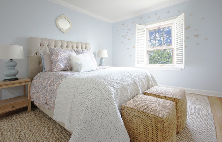 Cream and Blue Bedrooms, Transitional, Bedroom, Courtney Blanton Interiors