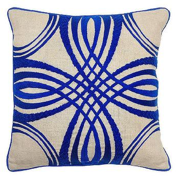 Zoey Sapphire Pillow design by Villa Home I Burke Decor