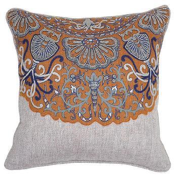 Genoa Sienna Brown Pillow design by Villa Home I Burke Decor