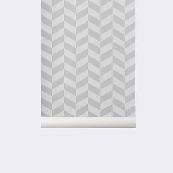 Angle Wallpaper in Grey design by Ferm Living I Burke Decor