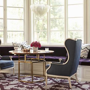 Bay Window Seat, Contemporary, Media Room, Jackson Page Interiors