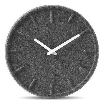 Felt Wall Clock design by Leff Amsterdam I Burke Decor