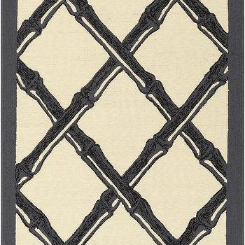 Bondi Beach Black & Ivory Rug design by Florence Broadhurst I Burke Decor