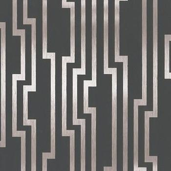 Velocity Wallpaper in Charcoal and Silver design by Candice Olson, Burke Decor
