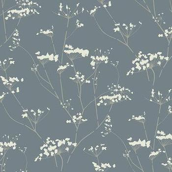 Enchanted Wallpaper in Metallic Blue design by York Wallcoverings, Burke Decor