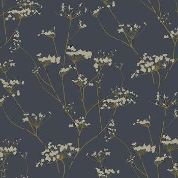 Enchanted Wallpaper in Deep Slate Blue design by York Wallcoverings, Burke Decor