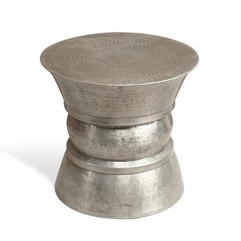 Romy Hammered Stool design by Interlude Home, Burke Decor