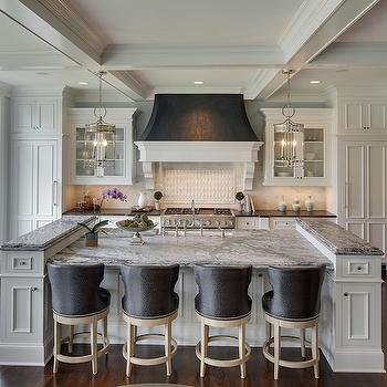White and Black Kitchen Hood, Transitional, Kitchen, Stonewood LLC