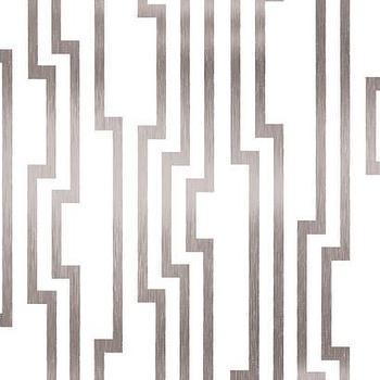 Velocity Wallpaper in White and Silver design by Candice Olson, Burke Decor