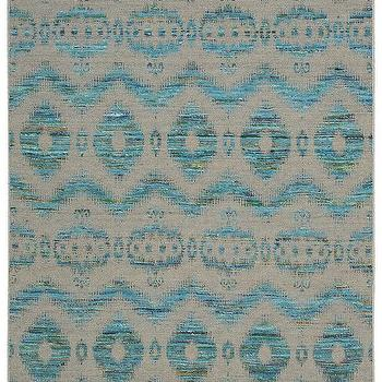 Spectrum Collection Rug in Turquoise & Grey design by Nourison I Burke Decor