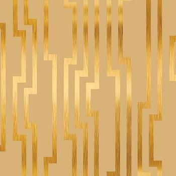Velocity Wallpaper in Beige and Gold design by Candice Olson, Burke Decor