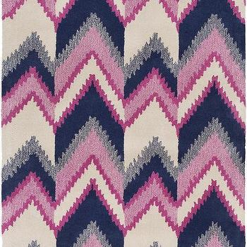 Mount Perry Ivory, Magenta, & Navy Rug design by Florence Broadhurst I Burke Decor