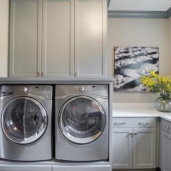 Built In Washer Dryer Platform, Contemporary, Laundry Room, Stonewood LLC