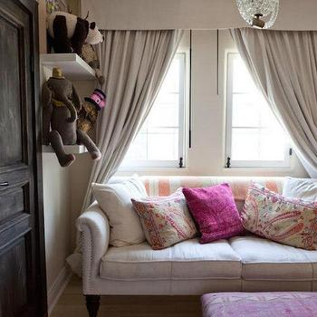 Playroom with Sofa, Eclectic, Girl's Room, Estee Stanley