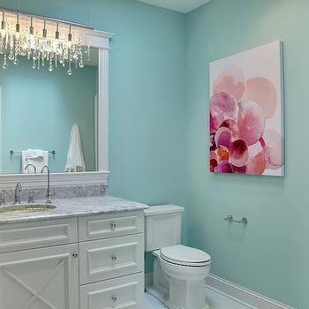 outstanding kids bathroom color | Turquoise Vanity - Contemporary - bathroom - Dwell