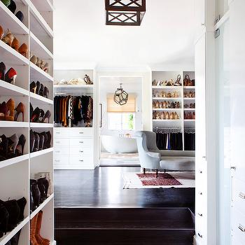 Walk Through Closet Design, Transitional, Bathroom, Estee Stanley
