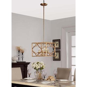Gold Leaf Moroccan 4-light Chandelier, Overstock.com