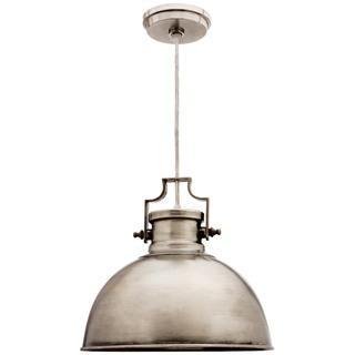 Camden Antique Nickel 1-light Dome Pendant, Overstock.com