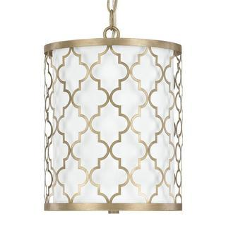 Ellis 2-light Pendant in Brushed Gold finish, Overstock.com