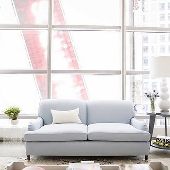 Powder Blue Sofa, Contemporary, Living Room, McGrath 2
