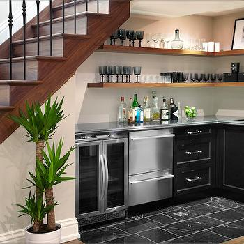 Under The Stairs Wet Bar, Contemporary, Basement, The Design Company