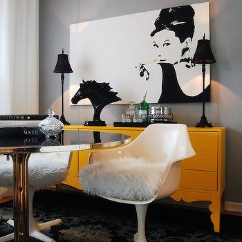 Yellow and Gray Rooms, Contemporary, Den/library/office, The Design Company