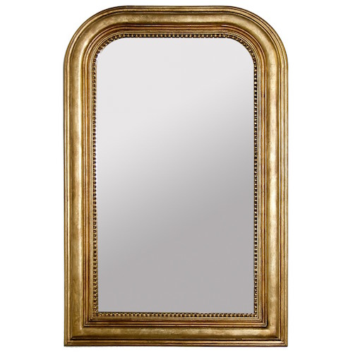 Worlds Away Waverly Gold Leaf Mirror Look for Less