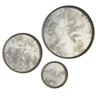Shire Antique Silver Mirror (Set of 3), Overstock.com