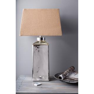 1-light Mercury Glass/ Burlap Table Lamp, Overstock.com