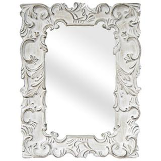 Legion Furniture Antique White Traditional Wall Mirror, Overstock.com
