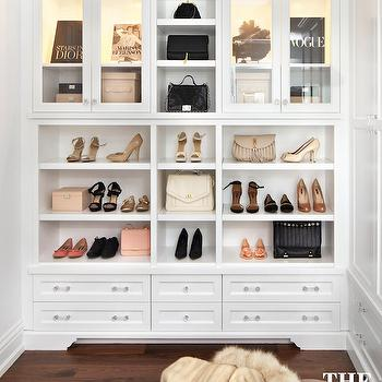 Cabinets for Handbags, Transitional, Closet, The Design Company