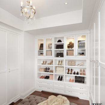 Closet with Tray Ceiling, Transitional, Closet, The Design Company
