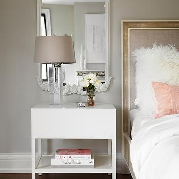 Mirror Over Nightstand, Contemporary, Bedroom, The Design Company