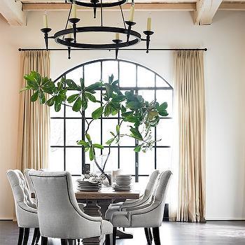 Tiered Iron Candelabra, Transitional, Dining Room, Melanie Turner Interiors