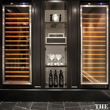 Temperature Controlled Wine Coolers, Contemporary Basement, The Design Company