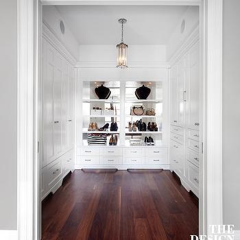 Closet Shelves with Mirrored Backsplash, Transitional, Closet, The Design Company