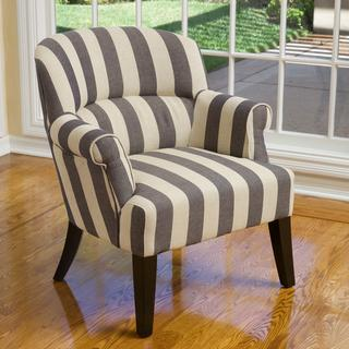 Christopher Knight Amelie Blue Stripe Fabric Club Chair, Overstock.com