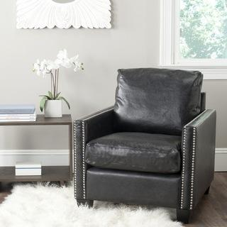 Safavieh Horace Antique Black Club Chair, Overstock.com