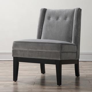 Alexander Grey Velvet Chair , Overstock.com