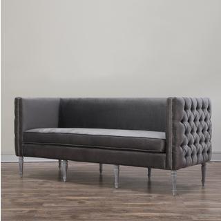 Bryn Grey Velvet Sofa, Overstock.com