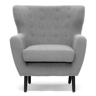 Moretti Light Grey Linen Modern Club Chair, Overstock.com