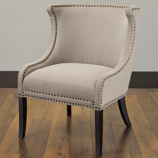 Demi Ritual Linen Accent Wing Chair, Overstock.com