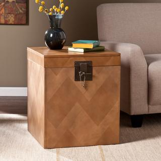 Upton Home Tifton Tavern Brown Side Trunk Table , Overstock.com