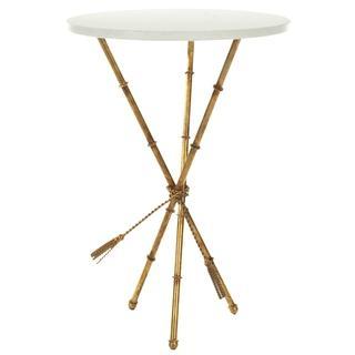 Safavieh Hidden Treasures White Granite Brass Accent Table, Overstock.com