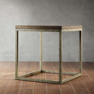 TRIBECCA HOME Somme Rustic Oak End Table, Overstock.com