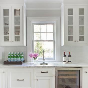 Clark Ceiling Light, Transitional, Kitchen, Benjamin Moore Paper White, Kathy Tracey Design