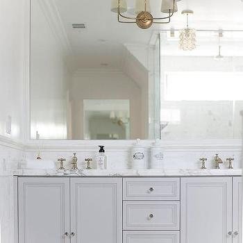 Gray Bathroom Vanity, Contemporary, Bathroom, 24 Design Construction