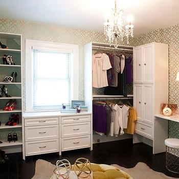 Glam Dressing Rooms, Contemporary, Closet