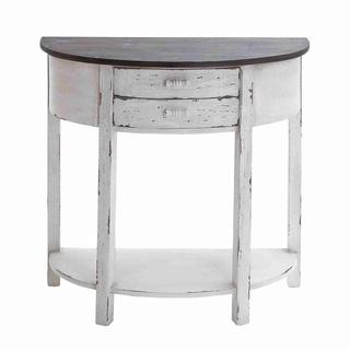 Wood Console Table with Polished Surface, Overstock.com