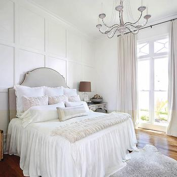 Board and Batten Accent Wall, French, Bedroom, Benjamin Moore Dove Wing, Telich Custom Homes